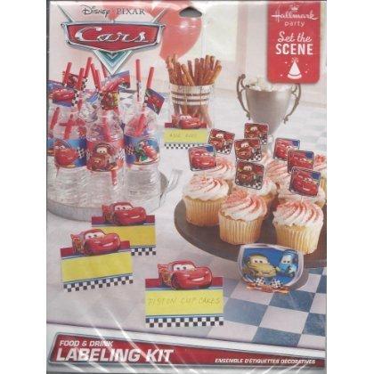 Cars Disneys Centerpiece - Disney Pixar Cars Food & Drink Labeling Kit