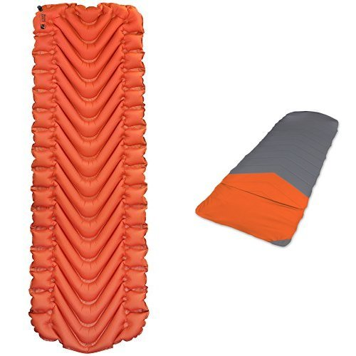 Klymit Insulated Static V with Quilted V Sheet with Insulated Sleeping Pad and Quilted Sleeping Pad Cover by Klymit