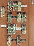 Spice Cabinet SimpleHouseware 30 Spice Gripper Clips Strips Cabinet Holder - 6 Strips, Holds 30 Jars