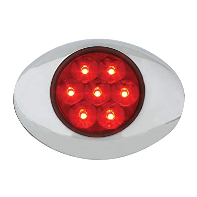 GG Grand General 76237 Red/Red Small Low Pro Pearl 7 Led Light with Clear Bezel, 3Wire: Automotive