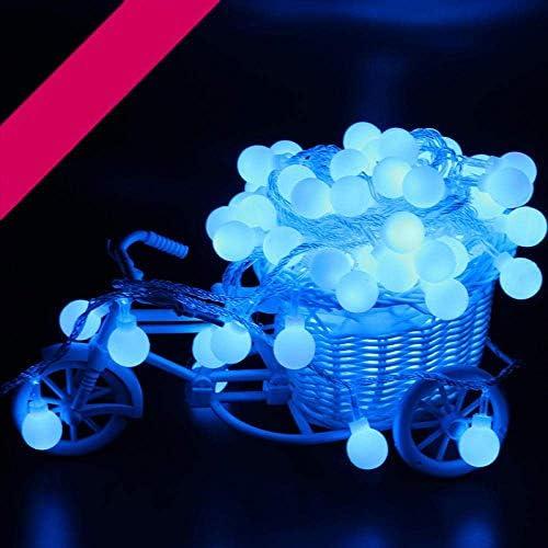 MLXDD MLX Lichterkette, kugelförmige Lichterkette, verwendet for Hausgarten Schlafzimmer wasserdichtes Licht Weihnachtsdekoration Netz mit Weihnachtsdekoration, batteriebetrieben