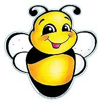 Eureka Recortes de papel de 5 pulgadas, abeja, paquete de 36 (841207)