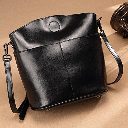 ZZ Sra. Marea moda hombro casual salvaje simple bolsa de mensajero,Negro,23cm * 12cm * 2 Negro