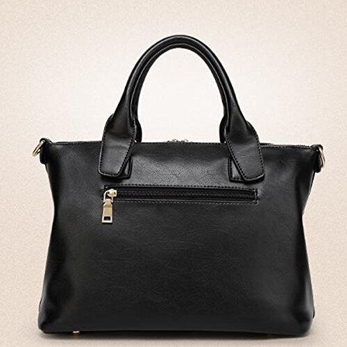 Pu Fashion Purse Bag Set Shoulder Bag Women 3pcs Bag Pink2 Leather xwFtYqx
