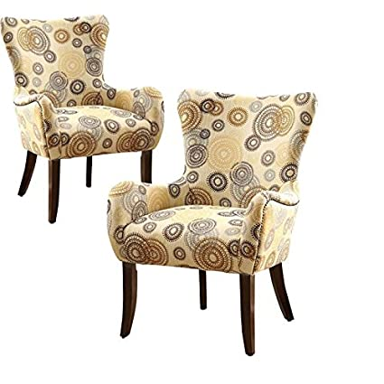Outstanding Amazon Com Home Square Set Of 2 Fabric And Espresso Ibusinesslaw Wood Chair Design Ideas Ibusinesslaworg