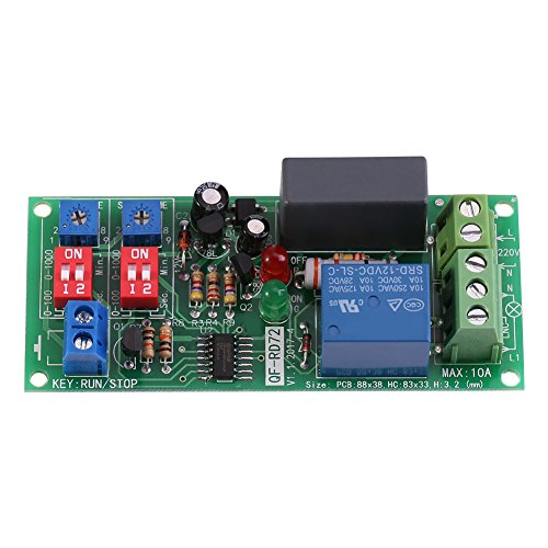 AC100V~250V Infinite Cycle Delay Timer Timing Switch Relay Turn On Off Module 0.5s ~ 1000min Adjustable - Delay Circuit