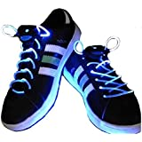 UK SELLER, WATERPROOF LED SHOELACES IN DIFFERENT COLORS : GREEN, RED, YELLOW, ORANGE, BLUE, PINK, YELLOW/ GREEN, BLUE/PINK, GREEN/PINK, MULTICOLOR