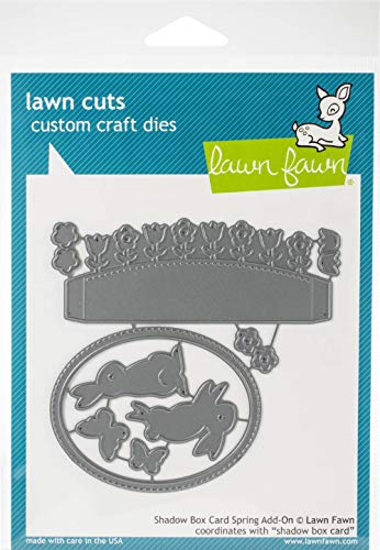 Lawn Cuts Custom Craft Die-shadow Box Card Spring Add-on