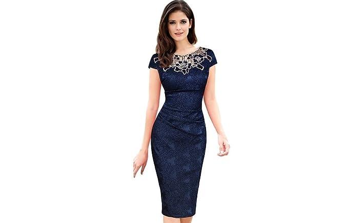 Vestidos Ropa De Moda Para Mujer Sexys Cortos Largos Negros De Noche Casuales y Elegantes VE0073 at Amazon Womens Clothing store: