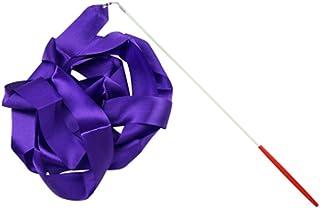 Aofocy 4 M Rubans De Danse Rythmique Gymnastique Ruban Streamer Rod Baton Rubans Twirling avec Bâton pour Enfants Danse Artistique 1 Pcs Pourpre