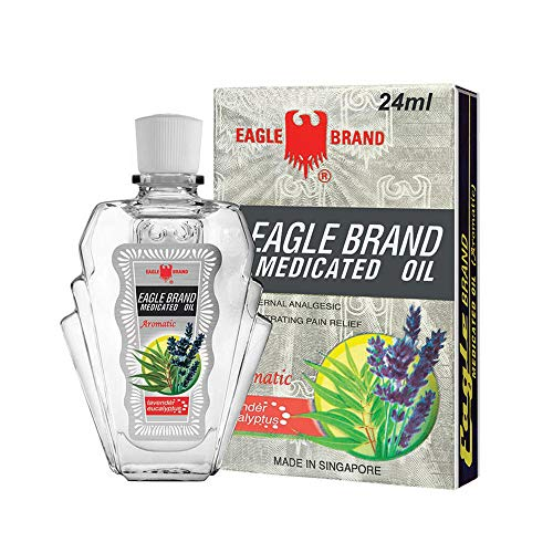 Eagle Brand Medicated Oil External Analgesic (Aromatic-Lavender Eucalyptus) 24ml (Eagle Oil)