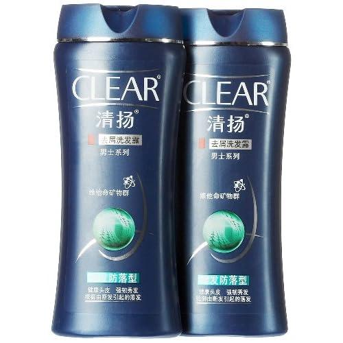 clear清扬男士洗发露健发防落型200ml*2(双支装)图片
