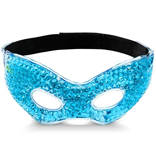 Bodyhealt Cooling Eye Ice Masks Gel for Headaches,Migraines and Stress Relief. Gel Eye mask-spa Gel Eye mask. Cold Pads-Warm Pads-Cool and Warm Compress, for Puffy Eyes and Dry Eyes.FDA Approved.