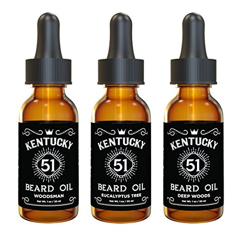 Premium Beard Oil and Conditioner for a Softer, Itch Free Beard – Variety Pack of 3 – 1 oz Bottles – Handmade with Carrier and Essential Oils that Offer Important Vitamins and Nutrients!