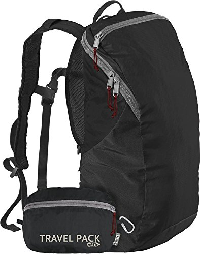ChicoBag Travel Pack rePETe Compact Recycled Backpack - Jet Black