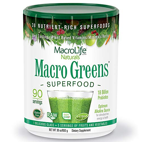 MacroLife Naturals Macro Greens Superfood – 30oz - 90 Servings