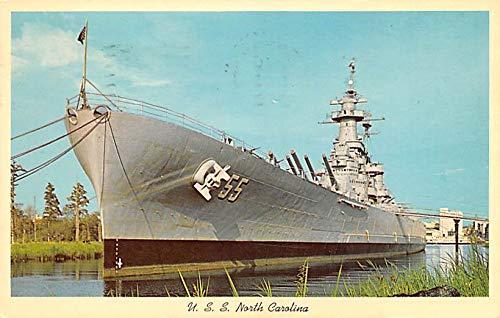 Military Battleship Postcard, Old Vintage Antique Military Ship Post Card USS North Carolina 1969