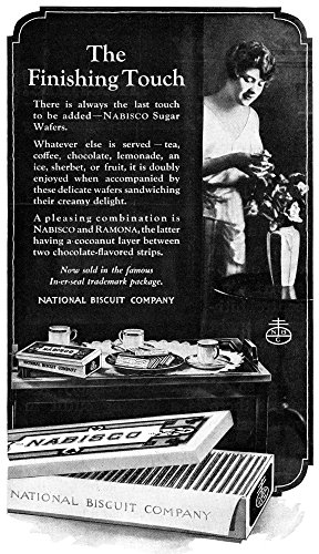 - Posterazzi Poster Print Collection Ad Namerican Advertisement for the National Biscuit Company (Nabisco) 1919, (18 x 24), Multicolored
