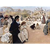 "PAINTING EDELFELT THE LUXEMBOURG GARDENS 12x16 "" POSTER ART PRINT HP3286"