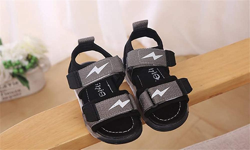 Toddler Baby Boys Summer Led Light Up Hollow Breathable Sandals Soft Luminous Outdoor Shoes