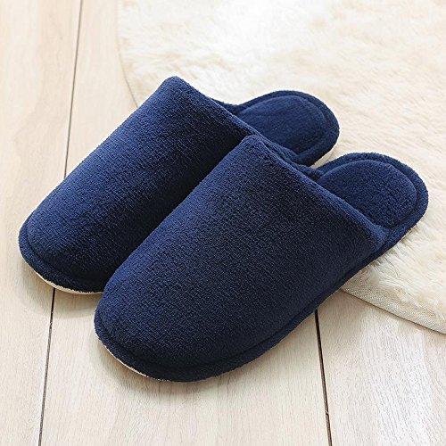 Cotone fankou pantofole femmina coppie indoor sweet home anti-scivolo per stare al caldo scarpa spesso uomini inverno ,41-42, caffè