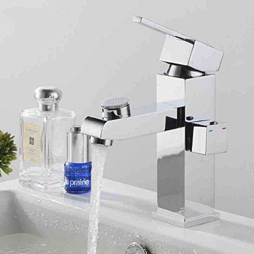 AQiMM AQiMM AQiMM Wasserhahn Wasserfall Armatur Waschtischarmaturen Antike können Gedreht Werden Und Kaltes Wasser Plus High-Copper Schwarz  Waschbeckenarmatur Für Badezimmer Waschbecken 3efc20