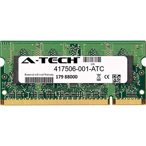 (A-Tech 2GB Replacement for HP 417506-001 - DDR2 667MHz PC2-5300 Non ECC SO-DIMM 1.8v - Single Laptop & Notebook Memory Ram Stick (417506-001-ATC))