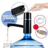 Water Pump Dispenser,TECKCOOL Wireless Auto Electric Gallon Drinking Bottle Water Dispensing Pump System,Press Pump Bottled Water Supply Device For Home And Office Portable  Switch 5W USB Charging