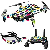MightySkins Skin For DJI Max Coverage - Game Kid Color Tile | Protective, Durable, and Unique Vinyl Decal wrap cover | Easy To Apply, Remove, and Change Styles | Made in the USA