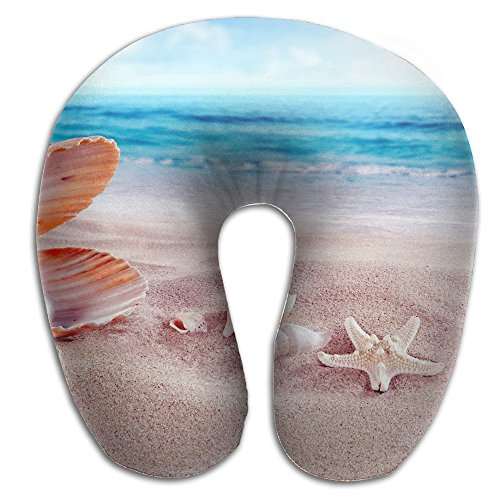 Create Magic Sea Shells With Beads U-Shaped Travel Pillow, A Memory Foam Pillow That Provides Relief And Support For Travel, Office, Home, Neck Pain, And Many More