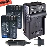 BM Premium 2 Pack of D-LI109 Batteries and Battery Charger for Pentax KP, K-R, K-S1, K-S2, K-30, K-50, K-70, K-500 Digital SLR Camera