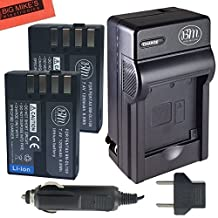 BM Premium 2 Pack of D-LI109 Batteries and Battery Charger for Pentax KP, K-R, K-S1, K-S2, K-30, K-50, K-70, K-500 Digital SLR Camera