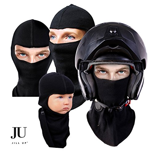 2 pack BALACLAVA SKI FACE MASK Premium Motorcycle Cycling Neck Warmer Unisex Tactical Hood Hypo-Allergenic Soft COTTON + Thermal Warm Moisture Wicking Snowboard Winter Windproof Hat Unisex (Arc Ski)