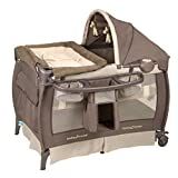 GREAT BABY PLAYARD FOR YOUR NEWBORN COMPLETE WITH A FULL BASSINET AND CANOPY , SAFE PLACE FOR YOUR BABY, EASY COMPACT FOLD