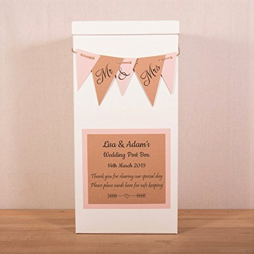 Bunting Personalised Wedding Card Post Box Gifts And Cards Signs