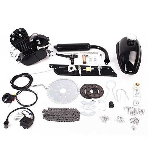 Kinbelle 80cc 2 Stroke Engine Motor Kit Motorized Bicycle Bike Fuel Gas Powered DIY Motorized Bike