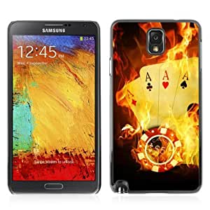 Designer Depo Hard Protection Case for Samsung Galaxy Note 3 N9000 / Burning Ace Cards