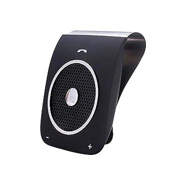 Easy-topbuy Coche Altavoz inalámbrico Coche en el Parasol Bluetooth 4.1 con Encendido automático por