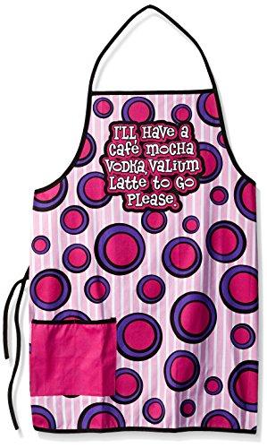 Spoontiques Cafe Mocha Vodka Valium Apron, Pink