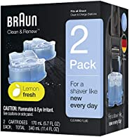 Braun Clean and Renew Refill Cartridges, 2 Count