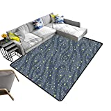 alsohome Printed Carpet m y Bright Stars in The Night Sky be use for Wallpaper Textile Maximum Absorbent Soft 24 x 40 inch