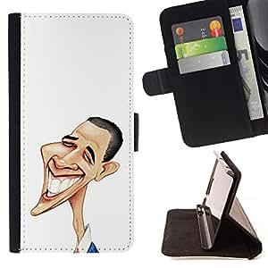 Jordan Colourful Shop - Funny Art Obama For Samsung Galaxy A3 - Leather Case Absorci???¡¯???€????€???????????&