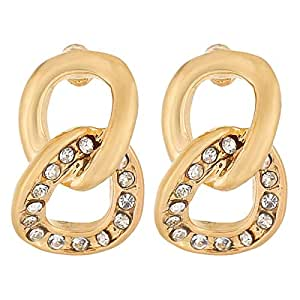 Venus Accessories Gold Plated Alloy Stud Earrings