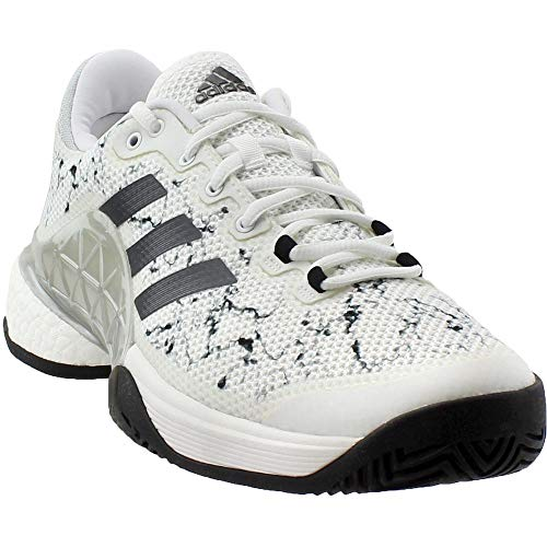 official photos 88ce6 a3ce7 adidas Men s Barricade 2017 Boost White Silver Metallic Core Black 10 D US