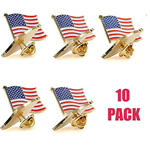 Exquisite American Stripes Solid Pin Gold