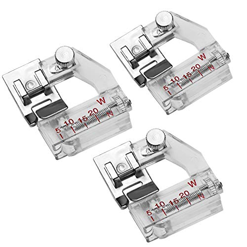 (Hapy Shop 3 Pack Tape Binding Sewing Machine Presser Foot Snap for All Low Shank Snap-On Singer, Brother, Babylock, Euro-Pro, Janome, Kenmore, White, Juki, New Home, Simplicity, Elna and More!)
