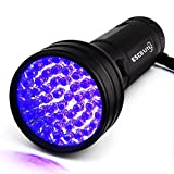 Escolite UV Flashlight Black Light,51 LED 395 nM Ultraviolet Blacklight Detector for Dog Urine, Pet Stains and Bed Bug