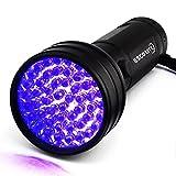 Escolite UV Flashlight Black Light,51 LED 395 nM Ultraviolet Blacklight Detector Dog Urine, Pet Stains Bed Bug