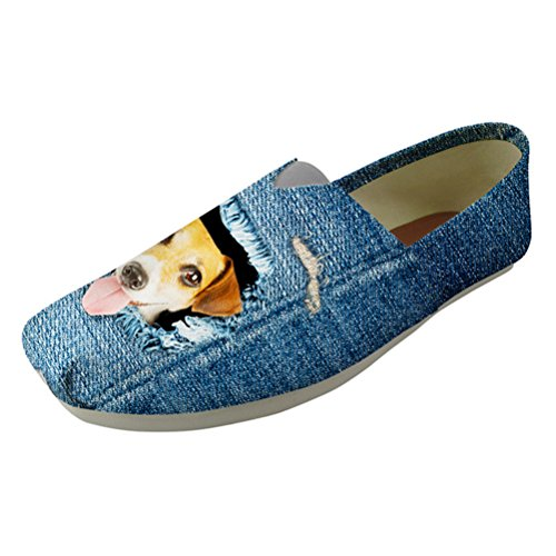 On Nopersonality Shoes Cowboy 1 dog Pumps Slip Canvas 10 US 6 denim Sizes Cat Espadrilles Womens xrXqr4wf