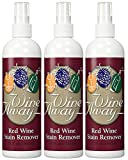 Wine Away Red Wine Stain Remover All Purpose Cleaner 12 Oz. Bottle, Set of 3
